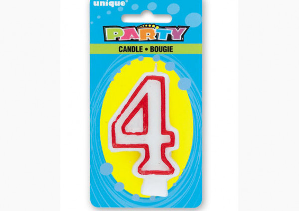 Number Candle '4'