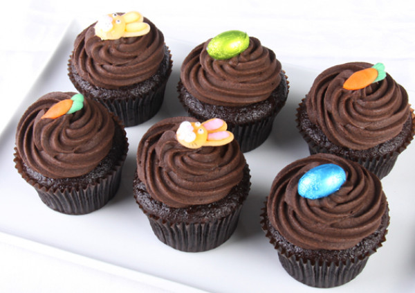 Easter Cupcakes - 7cm - chocolate