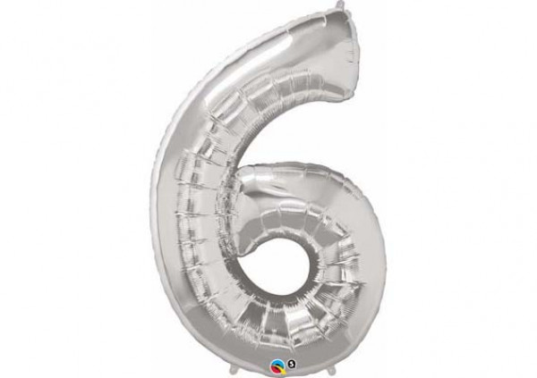 Foil Number Balloon '6'