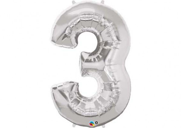 Foil Number Balloon '3'