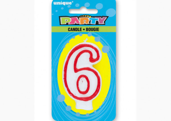 Number Candle '6'